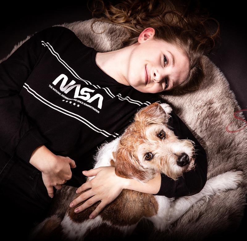 Mädchen mit Hund Shooting - Sabrina's Fotostudio in Hamminkeln, zwischen Wesel und Bocholt am Niederrhein