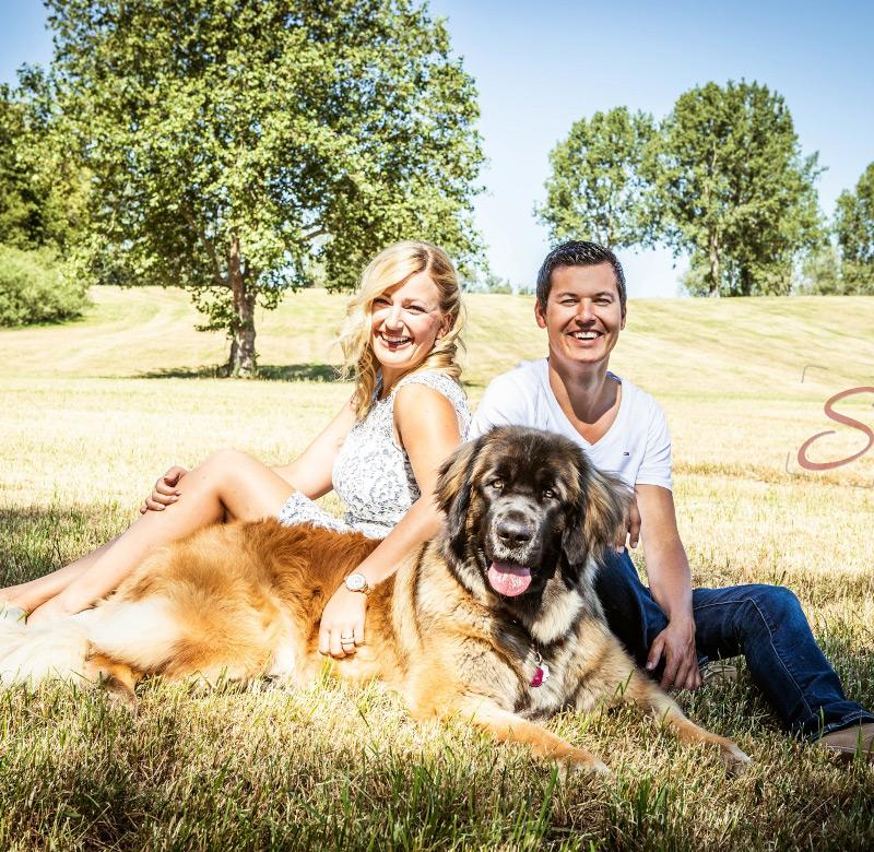 Paarfotoshooting mit Hund - Sabrina's Fotostudio in Hamminkeln, zwischen Wesel und Bocholt am Niederrhein