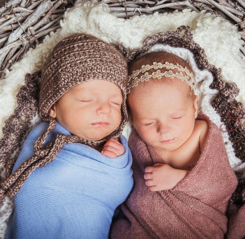 Baby Fotoshooting Geschwister - Sabrina's Fotostudio in Hamminkeln, zwischen Wesel und Bocholt am Niederrhein