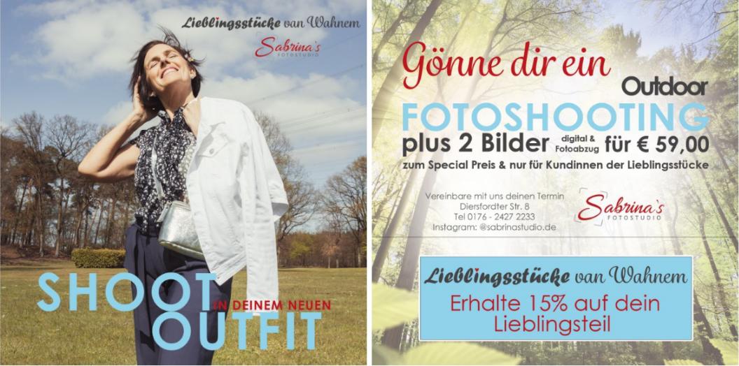 Plakat - Sabrina's Fotostudio in Hamminkeln, zwischen Wesel und Bocholt am Niederrhein